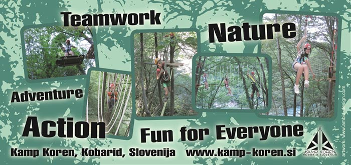 Adventure park in Camp Koren