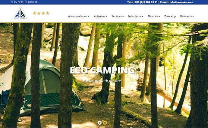 Web design Camp Koren