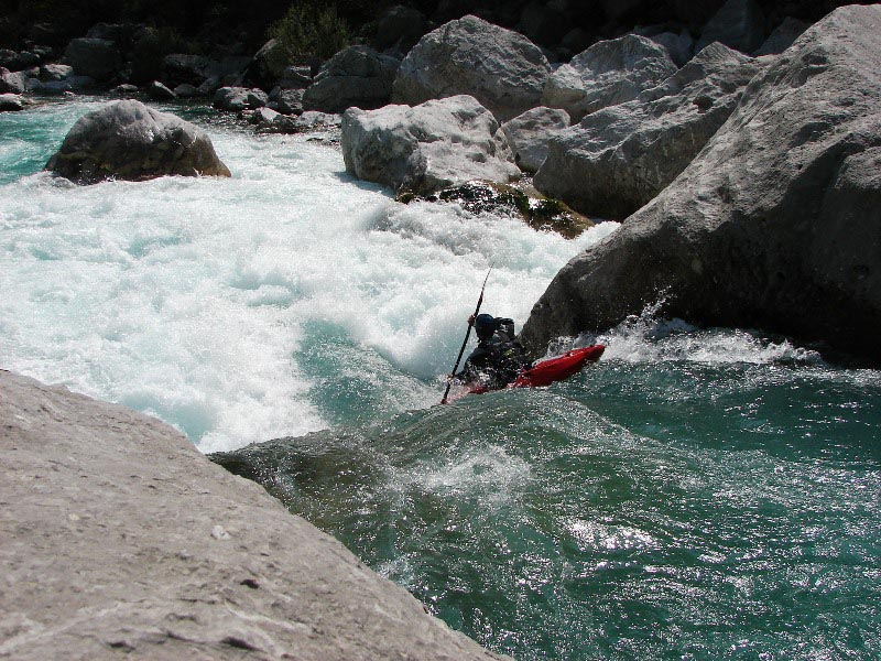 Kayaking Soča river