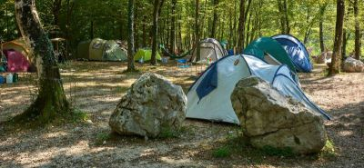 Tent camping sites are divided into 5 zones
